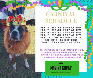 Kanine Krewe Carnival Schedule