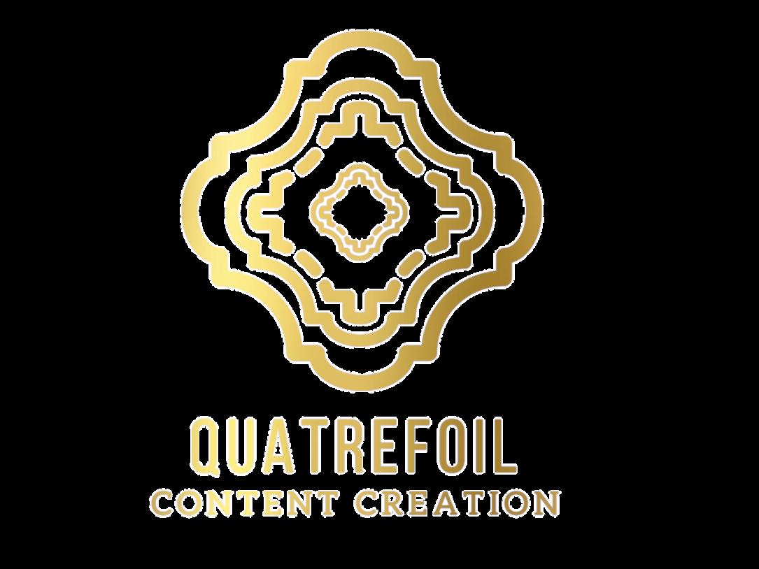 quatrefoil gold foil logo