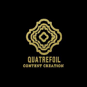 Quatrefoil Content logo reworked glitter